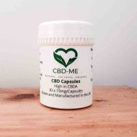 white container 'cbd-me' capsules high in cbda