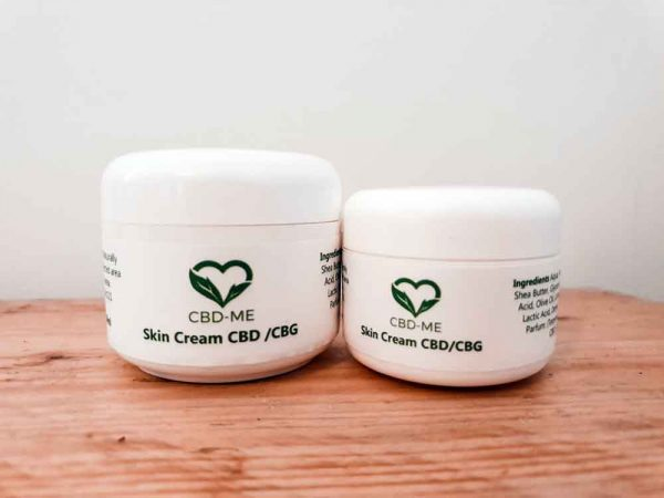 CBD and CBG Skin cream pots of skin cream '