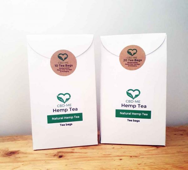 Natural Hemp Tea bags box of 10 or 20