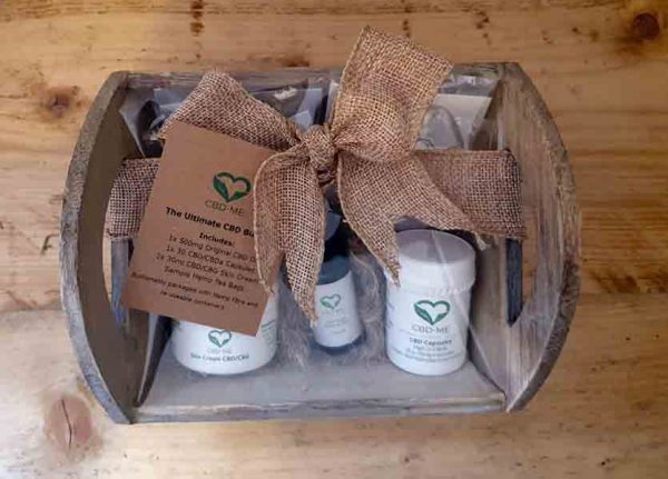 Gift set of CBD products CBD Oils, CBD Capsules, CBD Cream